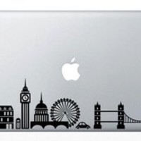 London Skyline Macbook Vinyl Sticker Laptop Skin