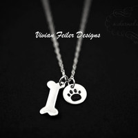 PET JEWELRY Dog Paw Necklace Sterling Silver Charm - Vivian Feiler Designs | Wedding Jewelry |