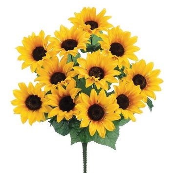 Artificial Sunflower Bush in Yellow
