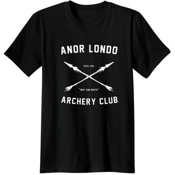 Anor Londo ARCHERY CLUB Men Adult Tees T-Shirts Video Game Gaming T Shirts Dark Souls Casual Apparel Fashion short sleeve Tops