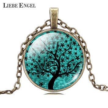 LIEBE ENGEL Life Tree Pendant Necklace  Cabochon Necklace