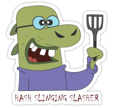 The Hash Slinging Slasher From Redbubble Stickers