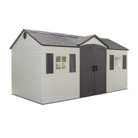 Lifetime 6446 15-by-8 Foot Outdoor Storage Shed with Shutters, Windows, and Skylights