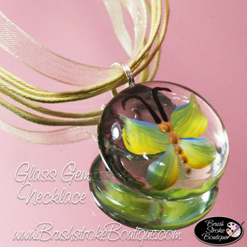 Hand Painted Jewelry - Yellow Butterflies Are Free - Original Designs by Cathy Kraemer