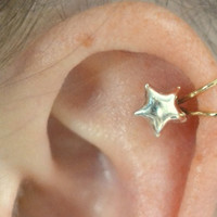 Star Ear Cuff  gold filled and sterling silver by ChapmanJewelry