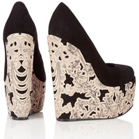 **Thunder Lace Wedge Courts by CJG - Heels - Shoes - Topshop USA
