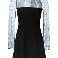 Red Valentino Sheer Tulle Panel Dress - Al Duca D'aosta - Farfetch.com