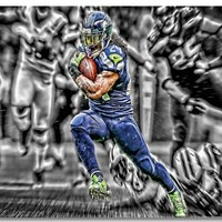 Custom Canvas Wall Decals Seattle Seahawks Poster Seahawks Painting Wall Stickers Football NFL Wallpaper Bar Cafe Mural #0046#