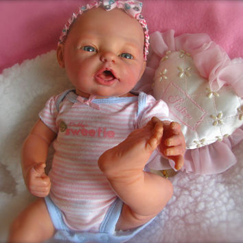"Vintage Reborn18"" Berjusa Baby Doll, anatomically correct girl, full vinyl body, with new outfit, hard to find model"