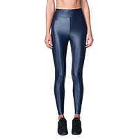 Lustrous High Rise Legging - Midnight Blue