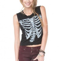 Brandy ♥ Melville |  Agathe Skeleton Tank - Graphic Tops - Clothing