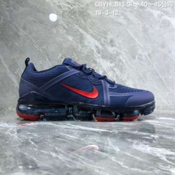 DCCK2 N893 Nike Air Vapormax 2019 mesh breathable Drop molding Running Shoes Dark Blue Red
