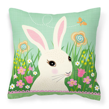 Easter Bunny Rabbit Fabric Decorative Pillow VHA3023PW1818