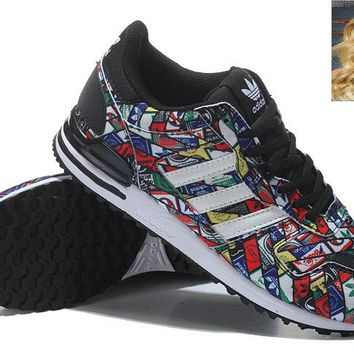 Newest 2018 G27067 Adidas ZX 700 Multi-Color Black shoes