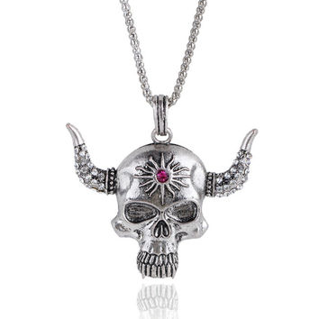 Skull Pendant Men's Necklace