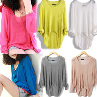 Fashion Womens Girls Ladies Loose Cardigan Soft Knit Coat Top Sweater 8 color