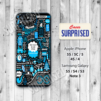 The fault in our stars, John Green, iPhone 5 case, iPhone 5C Case, iPhone 5S case,Phone cases,iPhone 4 Case,iPhone 4S Case, iPhone case JG19