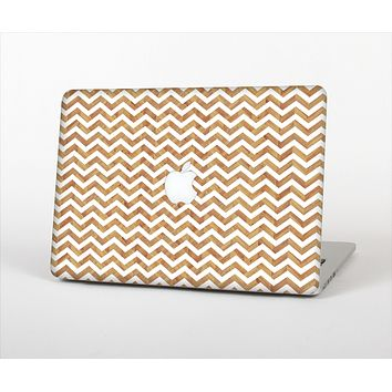 The Wood & White Chevron Pattern Skin Set for the Apple MacBook Air 11""