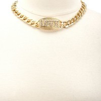 Metallic Love ID Necklace