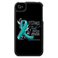 I Wear Teal For My Grandma  - Ovarian Cancer iPhone 4 Cases from Zazzle.com
