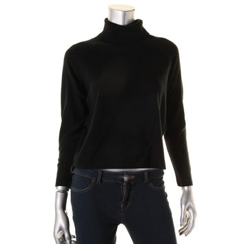 Karen Scott Womens Rib Trim Turtleneck Turtleneck Sweater