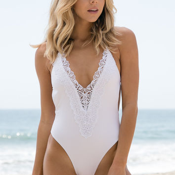 Blue Life - Mirage Halter One Piece | Diamond White