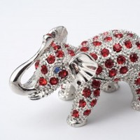 Silver & Red Elephant