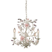 ELK 3 Light Chandelier In Cream - 8091/3