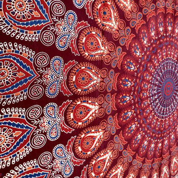 Mandala tapestries,tapestry,wall hanging   wall tapestries,tapestries,hippie tapestries,indian tapestries Peacock feather Tapestry