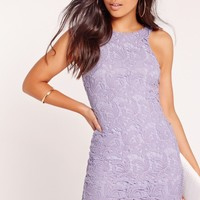Missguided - Lace Bodycon Dress Lilac