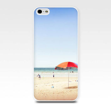 beach iphone case 5s iphone 4s case nautical iphone beach scene iphone 4 case iphone 5 case fine art pastel blue retro photography umbrella