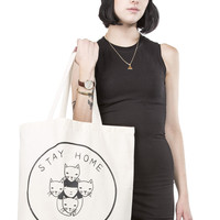 Stay Home Club tote bag