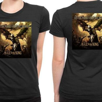 DCCK7H3 Avenged Sevenfold Hail To The King 2 Sided Womens T Shirt