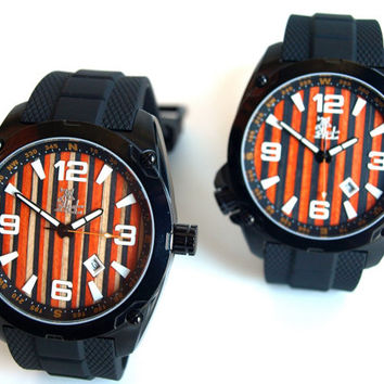 Wood Watch for Men- Recycled Skateboard Watch - Second Shot Skate Watch, Made in Canada