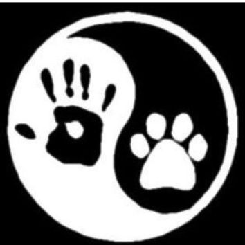 Dog hippie ying yang outdoor car decal