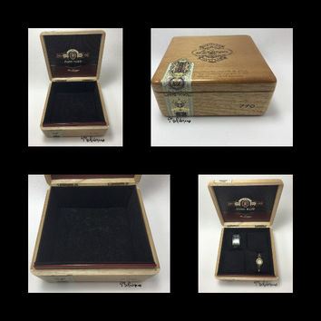 Alec Bradley Cigar Box Jewelry Box, Watch Holder and Watch Display by Michelaneous