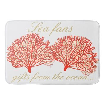 Red Sea Fan Coral Bath Mat