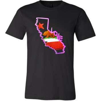 Love California State Flag Map Outline Souvenir Gift T-shirt