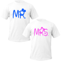 Mr and mrs couple tshirt