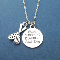Create SOMETHING BEAUTIFUL Each Day, Cooking, Tongs, Silver, Necklace, Gift, Jewelry