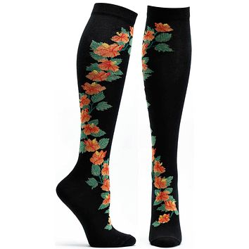 Apothecary Florals Hibiscus Knee High Sock