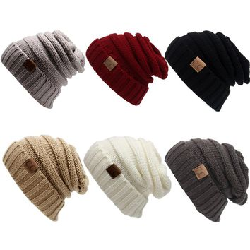 Fashion Bonnet  Women Winter Hat Female Winter Beanie Crochet Hat Knit Warm Women Caps Female Ear Women's Knitted Hats Girls Cap