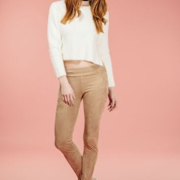 Mocha Suede Leggings