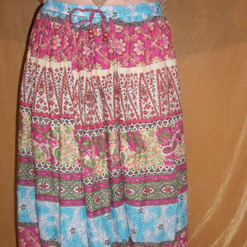 Paisley and Flower Pattern Bohemian Maxi Free by CosmicalKreationz