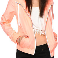 Zine Neon Coral Windbreaker Jacket