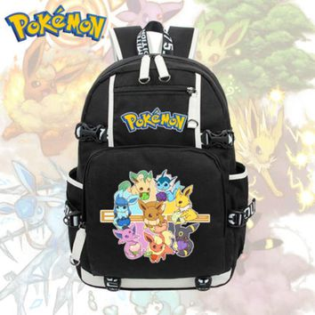 Anime Pokemon Eevee Backpack Cosplay Pikachu Shoulder Laptop Bags Knapsack Packsack Travel School Student Bags Otaku