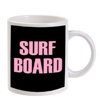 Gift Mugs | Surf Board Beyonce Inspired Ceramic Coffee Mugs