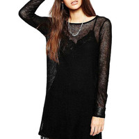 Black Two-piece Lace Dress