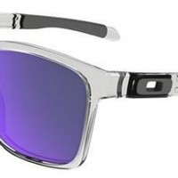 OAKLEY 9272 CATALYST 05 POLISHED CLEAR SUNGLASSES VIOLET IRIDIUM SOLE OCCHIALE