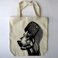 Doberman Dog -  Canvas Tote Bag
